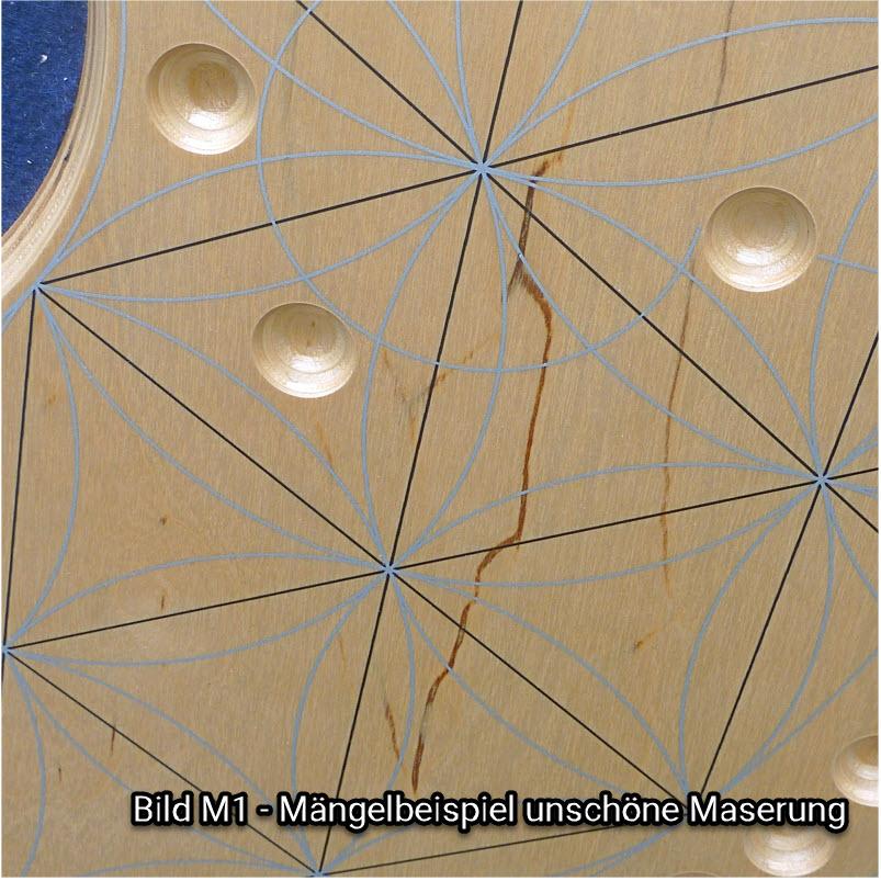 Bild M1 - Beispiel für unschöne Maserung