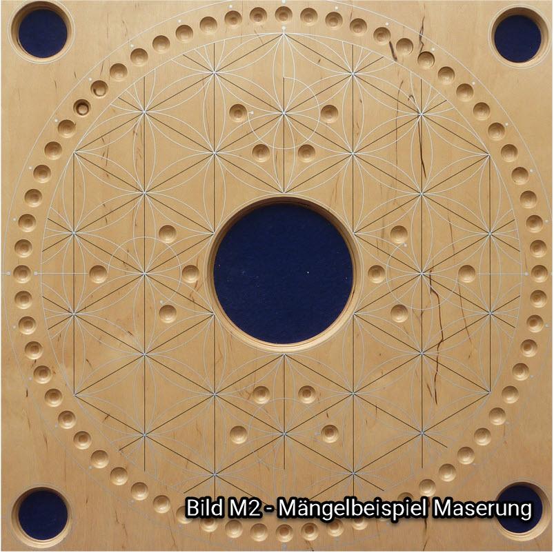 Bild M2 - Beispiel für unschöne Maserung